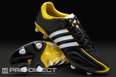 adidas Football Boots - adidas adipure 11Pro TRX FG - Firm Ground - Soccer Cleats - Black-Running White-Vivid Yellow