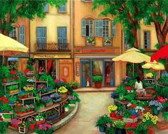 Aix, Provence, Flower market, France