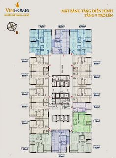 Chung cư 54A VINHOMES Nguyễn Chí Thanh Hà Nội là một trong những dự án được đón đợi nhất hiện nay, dự án được đánh giá với 3 tiêu chí cơ bản... Architectural Floor Plans, Apartment Plans, Pent House, Diagram, How To Plan, Architecture, Apartments, Spaces, Design