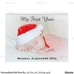 Personalized Add Your Baby Kids Or Family Photo Calendar This custom calendar has 14 total templates for your baby, kids, family, wedding or special photographs. Great gifts for family and friends.