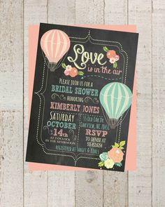 Hey, I found this really awesome Etsy listing at https://www.etsy.com/listing/202542519/chalkboard-hot-air-balloon-bridal-shower
