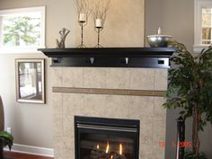Beautiful Fireplace Mantel Shelf with corbels. Enhance your room today!