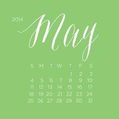 Free May Desktop Mobile Calendar designcorral.com #free #calendar #may…