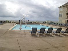 Poolside overlooking the ocean at Gleneden Beach, OR at Worldmark by Wyndham