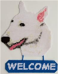 Bull Terrier Welcome Sign
