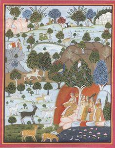Indian Paintings Rajput Miniature
