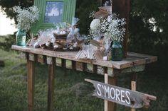 S'Mores At A Wedding! ~ Dessert Bar and Buffet Inspiration