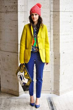 Veronica Popoiacu  Bag: 3.1 Phillip Lim   Coat: Joe Fresh   Shoes: Nine West   Shirt: Ralph Lauren   Pants: Gap   Hat: Ride Snowboards
