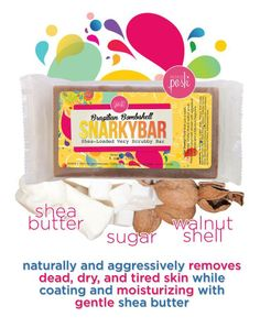 I just tried the new Brazilian Bombshell Snarky Bar and OMG it's awesome!!! My bathroom smells AMAZING from it just sitting out. The exfoliation comes from crushed walnut shells that are equally as effective as the original Snarky Bar, but are a much finer grit. #kristinasposh