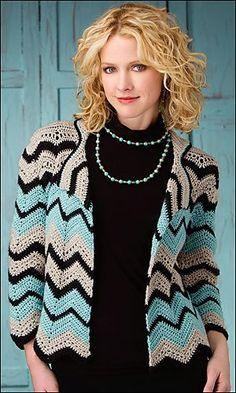 Ravelry: Maroma Jacket pattern by Joyce Bragg / beautiful colours & jacket/ CROCHET pattern Crochet Jacket, Crochet Poncho, Crochet Cardigan, Crochet Sweaters, Moda Crochet, Jacket Pattern, Jumpsuit Pattern, Crochet Fashion, Crochet Accessories