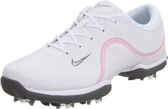 Nike Golf Women's Nike Ace Golf Shoe -  	     	              	Price: $  99.99             	View Available Sizes & Colors (Prices May Vary)        	Buy It Now      Don't let the rain deter you; the Nike Women's Ace golf shoe has a water-resistant, synthetic-leather upper to help keep feet dry, along with a stabilizing platform...