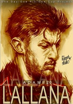 Project: 1Day,1Pic,1Club, player number 20 Adam Lallana, 30/01/2016.#Liverpool#The Kop Arts Studio.