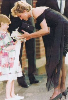 """Princess Diana - 1995. Think this is in her """"go to hell dress""""."""