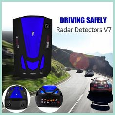 Car detector V7 360 Degree Detection Voice Alert Car Radar Detector anti English Voice for Car Speed Limited hot sale