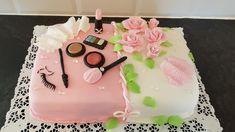 Kosmetologi make up kakku tyttärelleni.