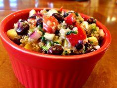 Becoming Betty Black Bean Quinoa Salad