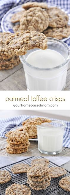 Oatmeal Toffee Cookies Recipe - the perfect cookie.  Crisp on the edges and chewy in the middle!