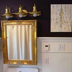 Gold Shabby Chic Mirror Large Mirror Bathroom Mirror Vanity Mirror Baroque Mirror Wall Mirror Ornate Mirror Custom Colors Available