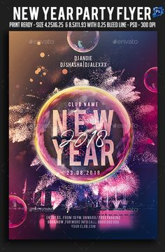 #New Year Party #Flyer - Clubs & Parties Events