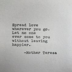 love quotes & We choose the most beautiful Mother Teresa Love Quote Typed on Typewriter for you.Mother Teresa Love Quote Typed on Typewriter - White Cardstock most beautiful quotes ideas Now Quotes, Words Quotes, Quotes To Live By, Life Quotes, Quotes On Love, Sayings, Beautiful Quotes About Love, At Peace Quotes, Doing Your Best Quotes
