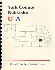 "NE~""OLD SETTLERS' HISTORY OF YORK COUNTY"" RP 1913 NEBRASKA BOOK~HISTORY/BIOS~NEW"