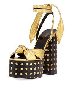 3dddc6ca080a 1995 2019 Saint Laurent Paige Star Platform Sandals at Neiman Marcus. Shop  the latest luxury