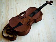 Brown Felt Violin Bag (Violin purse). $180.00, via Etsy.