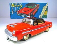"ALPS / IWAYA Tin Batt/Op 1953 Mercury Monterey 9.75"" Near Mint With Box"