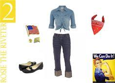 easy DIY costumes - Rosie the Riveter
