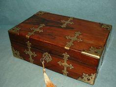 Unusual Design Registered Rosewood Writing Box