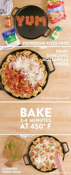 Pepperoni Pizza Fries – Your favorite appetizer meets tasty Italian flavors in this unique party dish! See how easy this recipe is to make for game day or your next celebration with this helpful video. Did we mention that this creation boasts plenty of gooey cheese?!