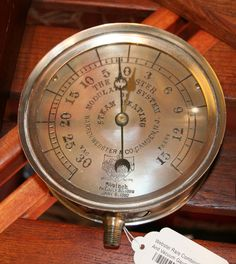 What's worth doing is worth #measuring... combination steam and vacuum gauge, c. 1890's