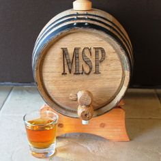Great gift - personalized whiskey barrel - great for Father's Day