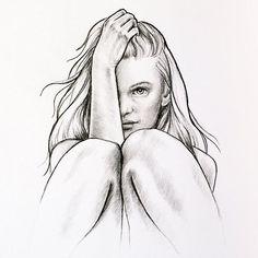 chica de espaldas dibujo - Buscar con Google