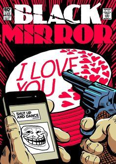 Black Mirror Shut Up by butcherbilly http://www.redbubble.com/people/butcherbilly
