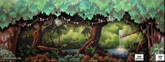 Peter Pan Theatrical Backdrop Rentals by Kenmark Scenic Backdrops