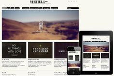 Vertical Responsive WordPress Theme by Dessign Themes on @creativemarket