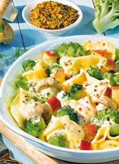 Tortellini-Brokkoli-Ragout: http://kochen.bildderfrau.de/rezepte/rezept_tortellini-brokkoli-ragout_168906.aspx #Pasta #tortellini