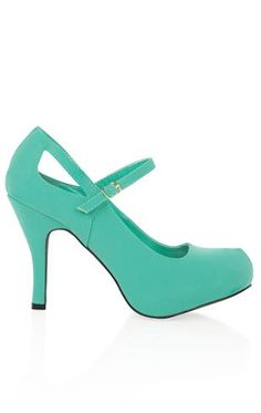 Deb Shops #mint maryjane #pump with side cutouts $29.90