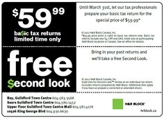 tax time with H&R Block Us Tax, Price Point, February, How To Get, Let It Be, Ads