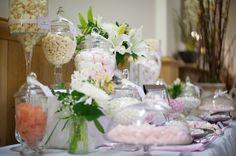 Pink & White Vintage Inspired Wedding Sweets Buffet at Tamborine Gardens