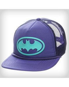 3abdcc32dbe7b Batman Purple Trucker Hat Gag Gifts