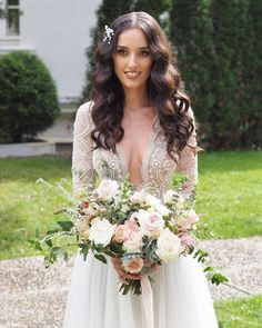 """IDYLLIC Events on Instagram: """"Elegant, graceful, refined, stylish, classic. She's got it all. If you think our bridal bouquet matches her poised look, we've done our job…"""" Lace Wedding, Wedding Dresses, Bouquets, Thinking Of You, Events, Bridal, Elegant, Stylish, Classic"""