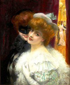 O baile de máscaras, s/d Albert Lynch ( Peru, 1851-1912) óleo sobre tela