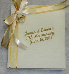 50th Anniversary Photo Album   Personalized Anniversary Gifts