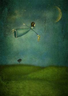 Majali - Design & Illustration: Fly me to the moon - Månfärd