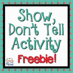Show Don't Tell {FREE}; This Show Don't Tell Activity helps students learn the difference between showing and not telling in writing, encouraging the use of vivid verbs, dialogue, and emotional wording. Writing Classes, Writing Lessons, Writing Workshop, Writing Resources, Teaching Writing, In Writing, Writing Services, Writing Prompts, Descriptive Writing Activities