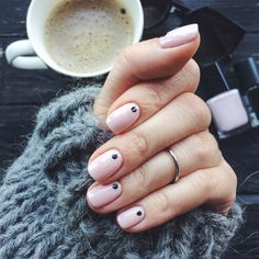 janekhodos: Nails: neutral with dots Minimalist Nails, Beauty Full, Pretty Nails, My Nails, Makeup Tips, Neutral, Hair Beauty, Nail Art, Instagram Posts