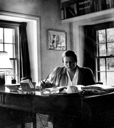 Pearl S. Buck in her study at Green Hill Farm in the 1940s.