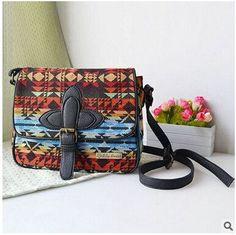 designer women National messenger bags canvas print cross body shoulder bags ladies small tote handbags high quality